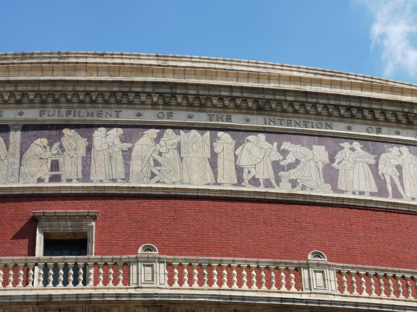 royal albert hall against blue sky